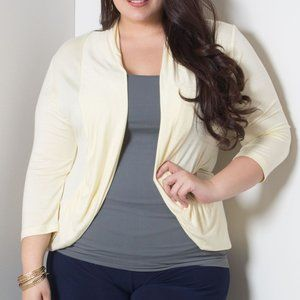SWAK Amber Shrug 1x Yellow Butter NWT New